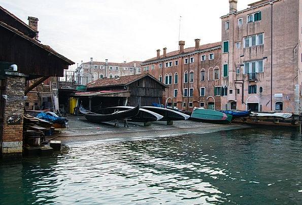 Shipyard Dockyard Venice Gondolas