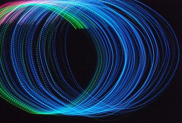Circles Rings Twisting Lights Illuminations Spiral