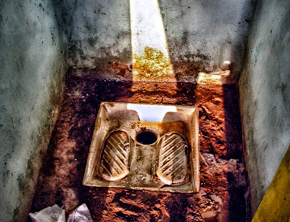 Toilet Lavatory Loo Wc Hole Fleabag Dirty Tunisia