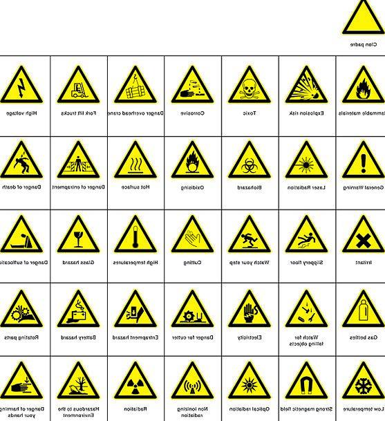 Warnings Notices Dangers Danger Hazard Hazards Cor