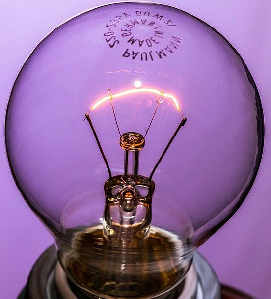 Disappearing Vanishing At On Light Bulb Glass Burn