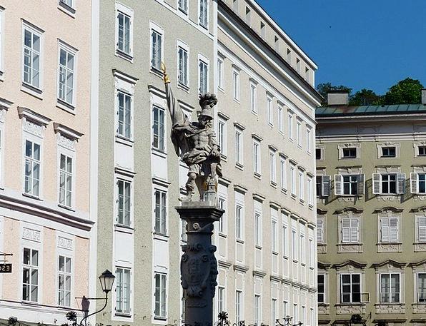 Saint Florian Figurine Fountain Cascade Statue Old