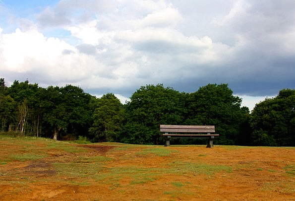 Bench Seat Landscapes Knoll Nature Sky Blue Hill T