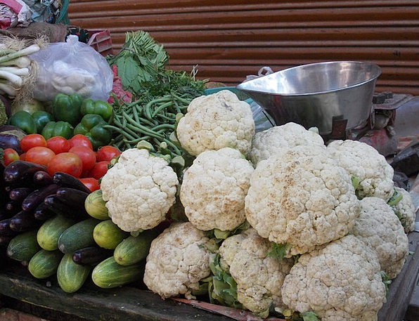 Vegetables Potatoes Drink Food Cucumbers Cauliflow