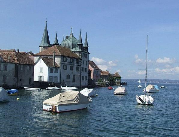 Lake Constance Ecclesiastical Boats Ships Church I