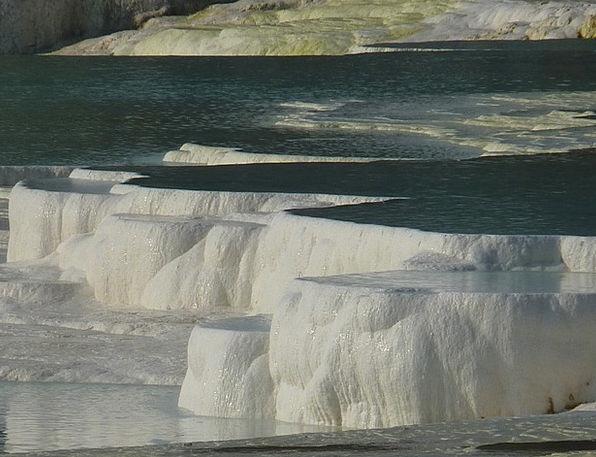 Pamukkale Landscapes Nature Calcium Lime Sinter Te