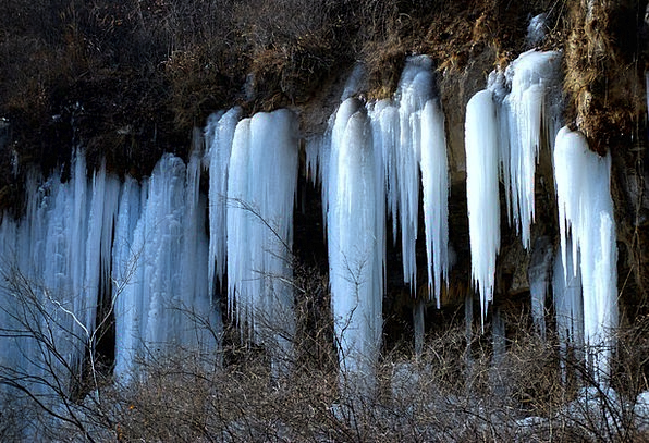 Ice Frost Ice-covered Drip Drop Frozen Waterfall C