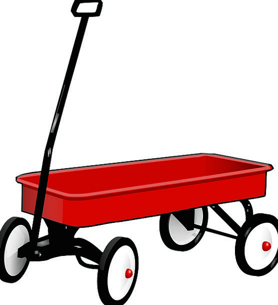Pull Jerk Carriage Trolley Wagon Free Vector Graph