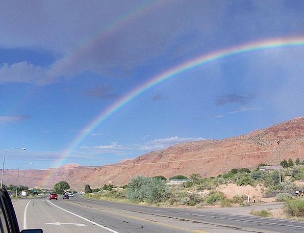 Rainbow Multicolored Moab Rim Moab Utah Desert Out