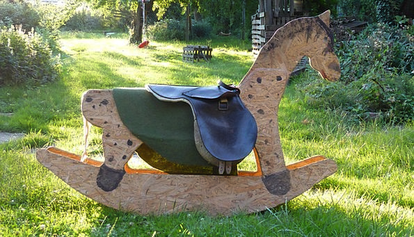Rocking Horse Dolls Wooden Horse Toys Built Childr