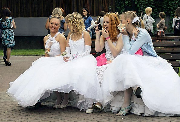 Brides Wives Fashion Sedentary Beauty Waiting To c
