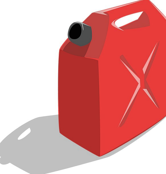 Gas Air Red Bloodshot Can Gallon Container Ampule