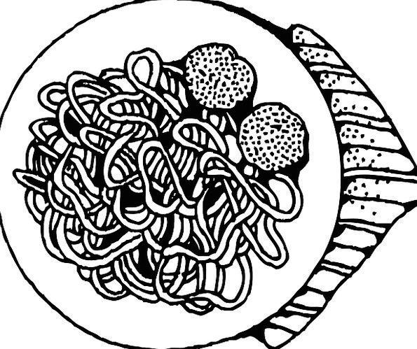 Spaghetti Meatballs Italian Pasta Basil Noodles Fr