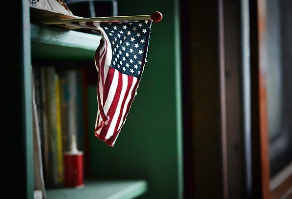 America Standard Usa Flag Blue American Freedom Un