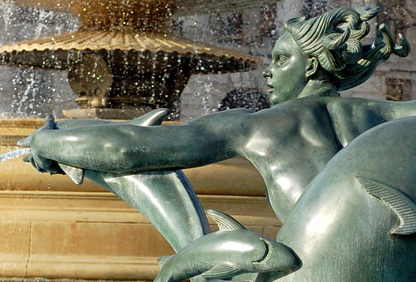 Fountain Cascade Aquatic Sculpture Statue Water Ar