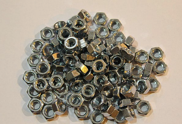 Metal Metallic Mad Thread Yarn Nuts Screw Bolt The