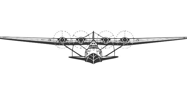 Plane Flat Hovering Aeroplane Flying Free Vector G