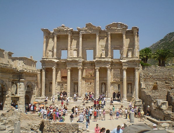 Library Of Celsus Ruins Shells Ephesus
