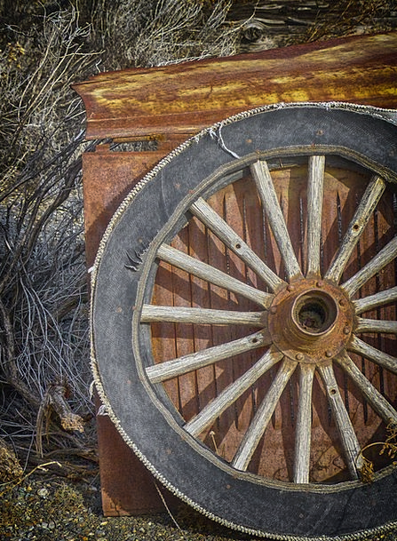 Wagon Wheel Textures Ancient Backgrounds Wooden Ti