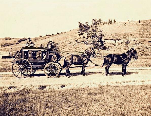 Stagecoach Carriage Traffic Transportation Western
