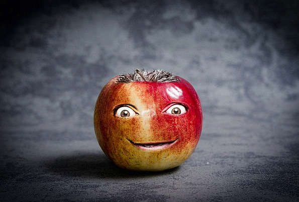Apple Drink Humorous Food Face Expression Funny Ph