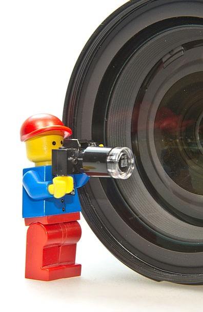 Photographer Paparazzo Men Lego Males Cut Out Lens