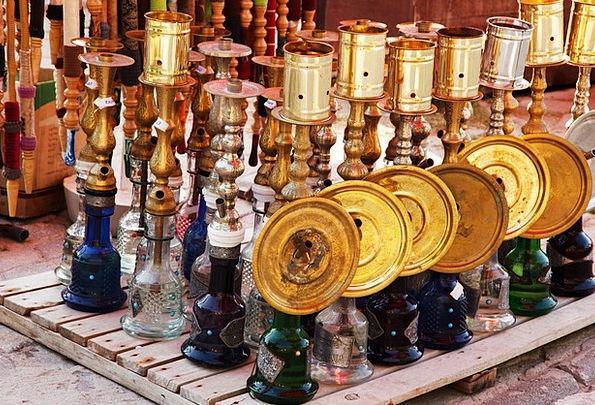 Arabian Colorful Interesting Arabic Tobacco Glass