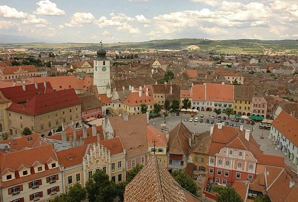 Sibiu Buildings Urban Architecture Medieval Feudal