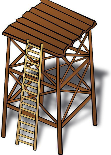 Wooden Timber Lookout tower Defense Protection Wat