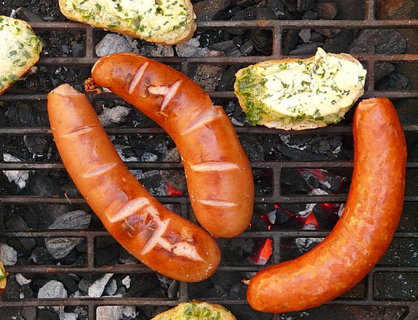 Sausage Bread Cash Red Sausage Barbecue Grill Herb