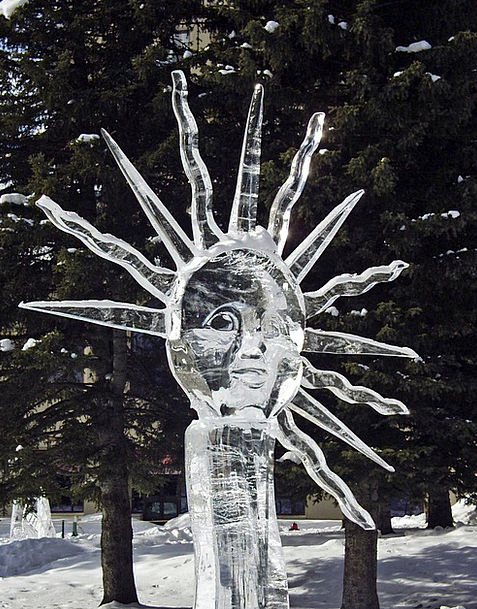 Ice Carving Frost Art Painting Ice Canada Carving