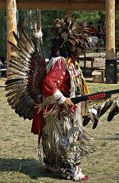 Indian Dance Ball Powwow Feather Quill Canada Rifl