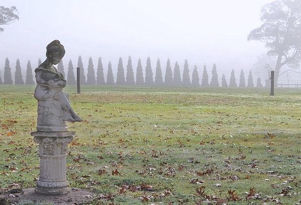 Statue Figurine Season Frost Ice Winter Grass Lawn
