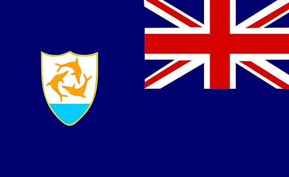 Anguilla Standard Caribbean Flag Official Authoriz