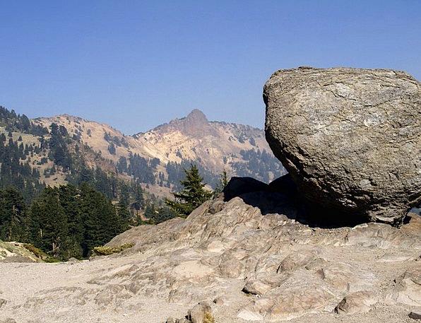 Balanced Rock Landscapes Nature California Lassen
