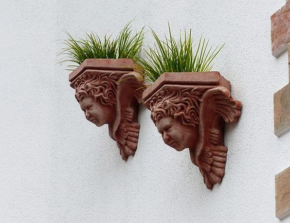 Flowerpot Planter Landscapes Pots Nature Hauswand