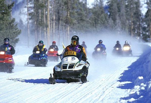 Snowmobiles Landscapes Season Nature Yellowstone W