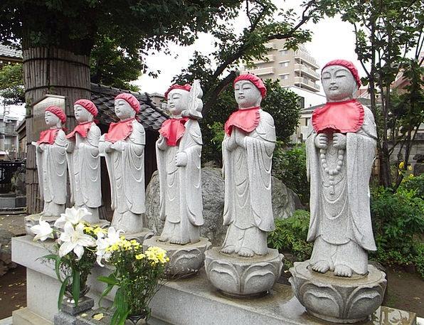 Shrine Memorial Japanese Japan Statue Figurine Bud