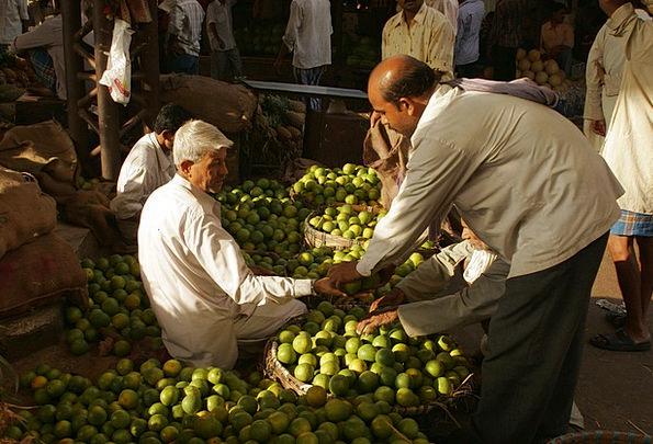 India Market Marketplace Bombay Sell Vend Fruits C