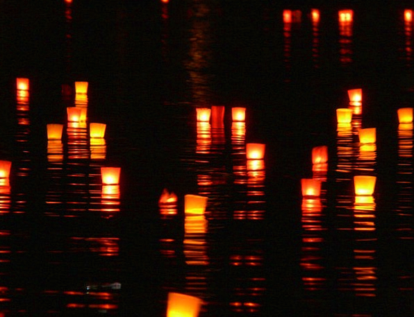 Candles Tapers Illuminations River Stream Lights N