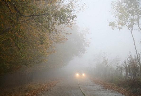 Fog Traffic Fall Transportation Car Carriage Autum