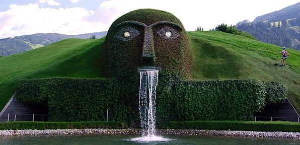 Fontana Plot Face Expression Garden Water Aquatic