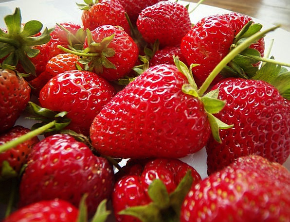 Strawberries Drink Ovary Food Red Bloodshot Fruit