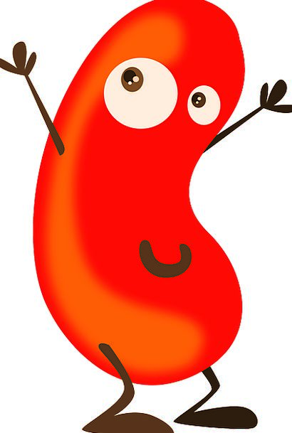 Cartoon Bean Animation Red Bloodshot Beans Legumes