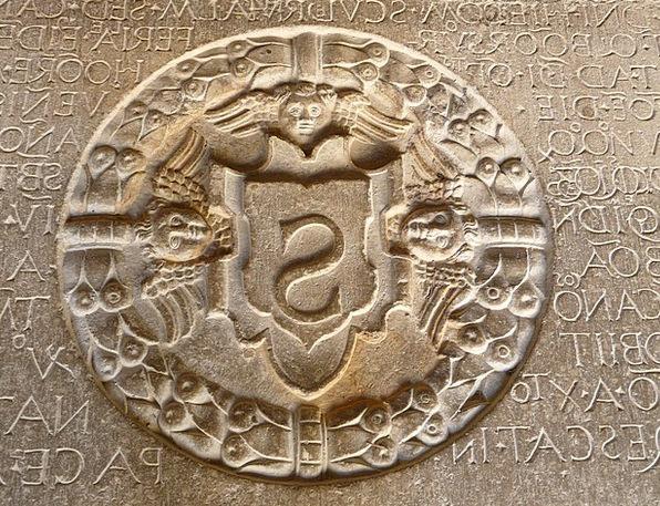 Bottom Plate Ornament Decoration Steinplatte Seal