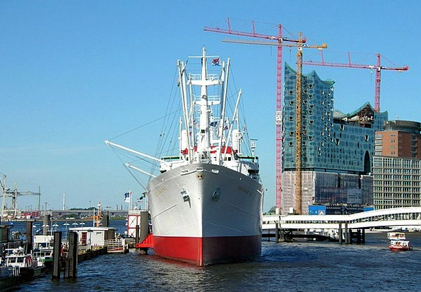 Hamburg Buildings Harbor Architecture Ship Vessel