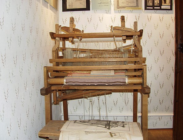 Loom Appear Minor Wood Timber Small Antique Old We