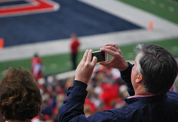 Man Gentleman Taking Picture Iphone Smart Phone Te