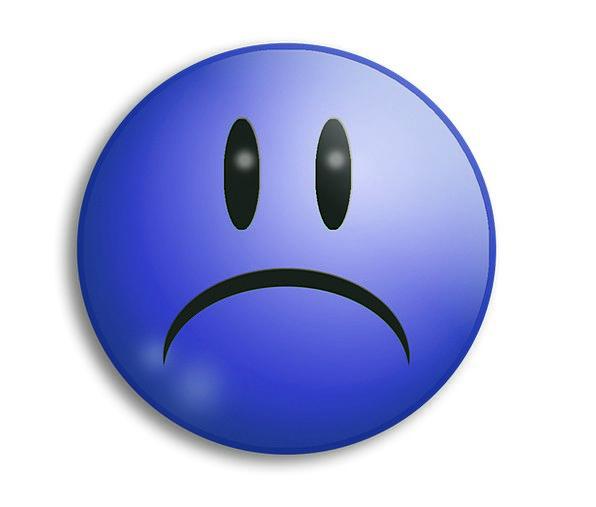 sad unfortunate sadness blues unhappy sad face blue sad smile