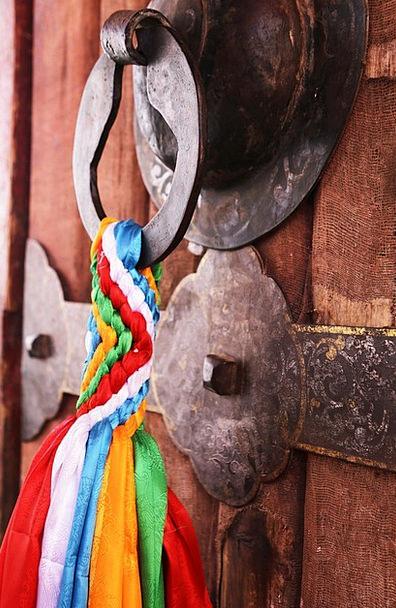 Door Lock Tibet Prayer Flags Lhasa Buddhism The Po